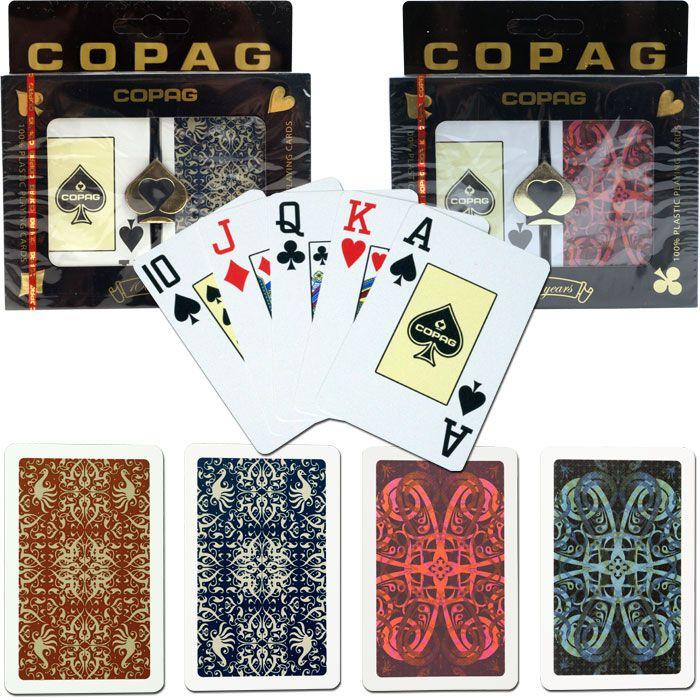 Copag Cards Bridge Size JUMBO Index - Gold Line Script & Aldrava