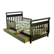 Dream On Me Sleigh Toddler Bed with Storage Drawer in Black at Sears.com