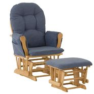 Stork Craft Hoop Glider & Ottoman - Natural/Denim at Kmart.com