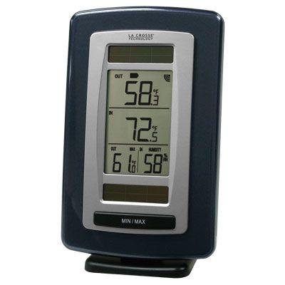 La Crosse Technology WS-6020U-IT Solar Powered Temperature/Humidity Station with Solar Sensor PartNumber: 028V003875539000P KsnValue: 028V003875539000 MfgPartNumber: WS-6020U-IT-CBP