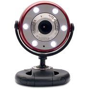 Gear Head Red/Black 1.3MP WebCam With Night Vision - WC1200RED at Sears.com