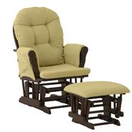 Stork Craft Hoop Glider & Ottoman - Espresso/Green at Sears.com