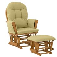 Stork Craft Hoop Glider & Ottoman - Oak/Green at Kmart.com