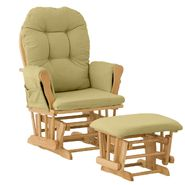 Stork Craft Hoop Glider & Ottoman - Natural/Green at Kmart.com