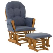 Stork Craft Hoop Glider & Ottoman - Oak/Denim at Kmart.com