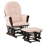 Stork Craft Hoop Glider & Ottoman - Black/Pink at Kmart.com