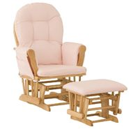 Stork Craft Hoop Glider & Ottoman - Natural/Pink at Kmart.com