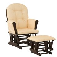 Stork Craft Hoop Glider & Ottoman - Espresso/Yellow Gingham at Kmart.com