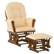 Stork Craft Hoop Glider & Ottoman - Cognac/Yellow Gingham at Kmart.com