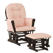Stork Craft Hoop Glider & Ottoman - Black/Pink Gingham at Kmart.com