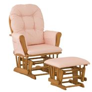 Stork Craft Hoop Glider & Ottoman - Oak/Pink Gingham at Kmart.com