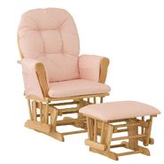 Stork Craft Hoop Glider & Ottoman - Natural/Pink Gingham at Kmart.com