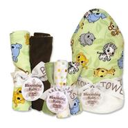 Trend-Lab Chibi Zoo 3pk Bouquet Set: Hooded Towel, Wash Cloth Set & Burp Cloth Set at Sears.com