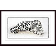 Siberian Tiger ,Framing: black wood, white matte at Kmart.com