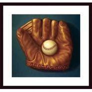 Baseball Mitt I ,Framing: black wood, white matte at Kmart.com