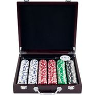 Trademark Poker 300 11.5 Gram Striped Dice Chips in Las Vegas Sign Case at Kmart.com
