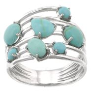 Turquoise Pebble Stone Ring at Sears.com