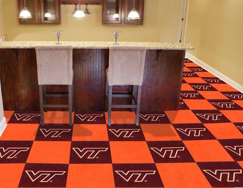 Fanmats Virginia Tech Collegiate Carpet Tiles