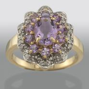 Amethyst & Diamond Accent Ring at Kmart.com