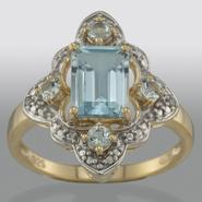 Blue Topaz and Diamond Accent Ring at Kmart.com