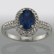 Lab Created Sapphire and Diamond Accent Ring at Kmart.com