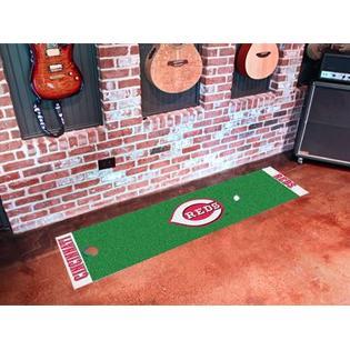 Fanmats Cincinnati Reds 18'x72' Golf Putting Green Mat