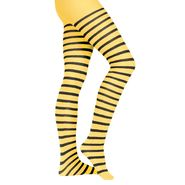 Totally Ghoul Yellow and Black Striped Pantyhose at Kmart.com