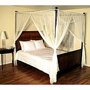 Casablanca White Palace Four Poster Bed Canopy at Kmart.com