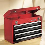 Craftsman 4-Drawer Metal Portable Chest - Red/Black at Craftsman.com