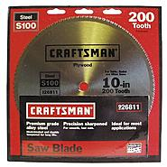Craftsman 10 in. Saw Blade, Crosscut/Plywood - 200T at Sears.com