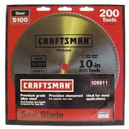 Craftsman 10 in. Saw Blade, Crosscut/Plywood - 200T at Craftsman.com