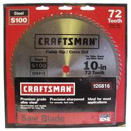 Craftsman 10 in. Saw Blade, Heat-Treated Steel - 72T at Craftsman.com