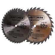 Craftsman 10 in. Saw Blade Pack, 2 pk. at Craftsman.com
