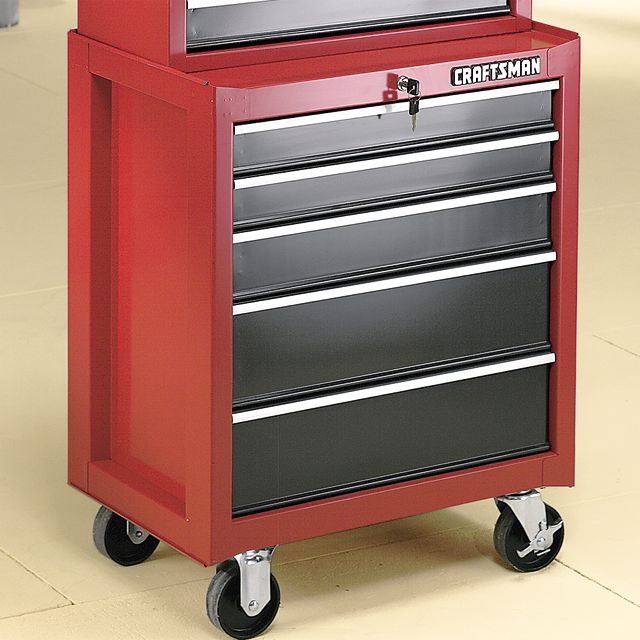 Craftsman 5-Drawer Roll-Away Pro Cabinet, 26-1/2 in. Wide