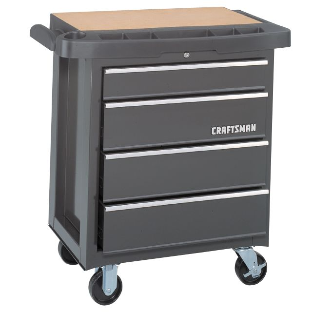 Craftsman 4-Drawer Mobile Tool Cabinet, Professional Quality