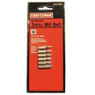 Craftsman 6 pc. Bit Set, Torx® Security at Craftsman.com