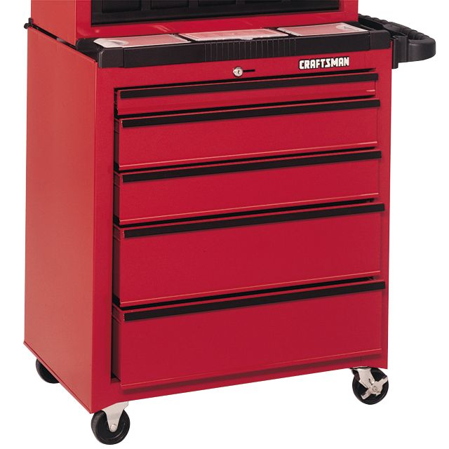 Craftsman 5-Drawer Roll-Away, 26-1/2 in. Wide, Homeowners