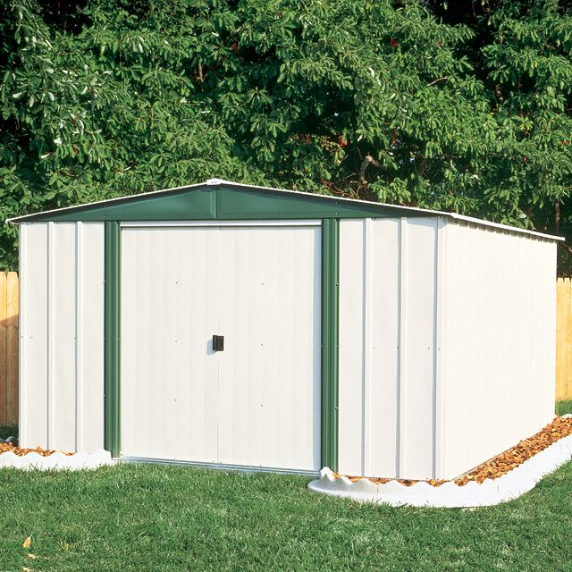 Arrow Buildings Sr68206 Gable Steel Lawn Building 10 Ft X 6 Ft image