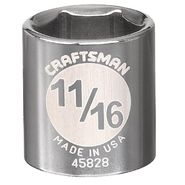 Craftsman 11/16 in. Socket, 6 pt. at Sears.com