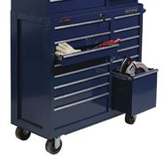 "Craftsman CLOSEOUT! 40"" Wide 14-Drawer Ball-Bearing GRIPLATCH® Tool Cart - Midnight Blue at Craftsman.com"