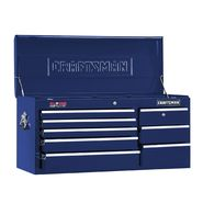 "Craftsman 40"" Wide 8-Drawer Ball-Bearing GRIPLATCH® Top Chest - Midnight Blue at Craftsman.com"
