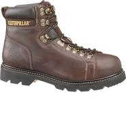 "Cat Footwear Men's Work Boots Leather Steel Toe 6"" Brown P89370 at Sears.com"