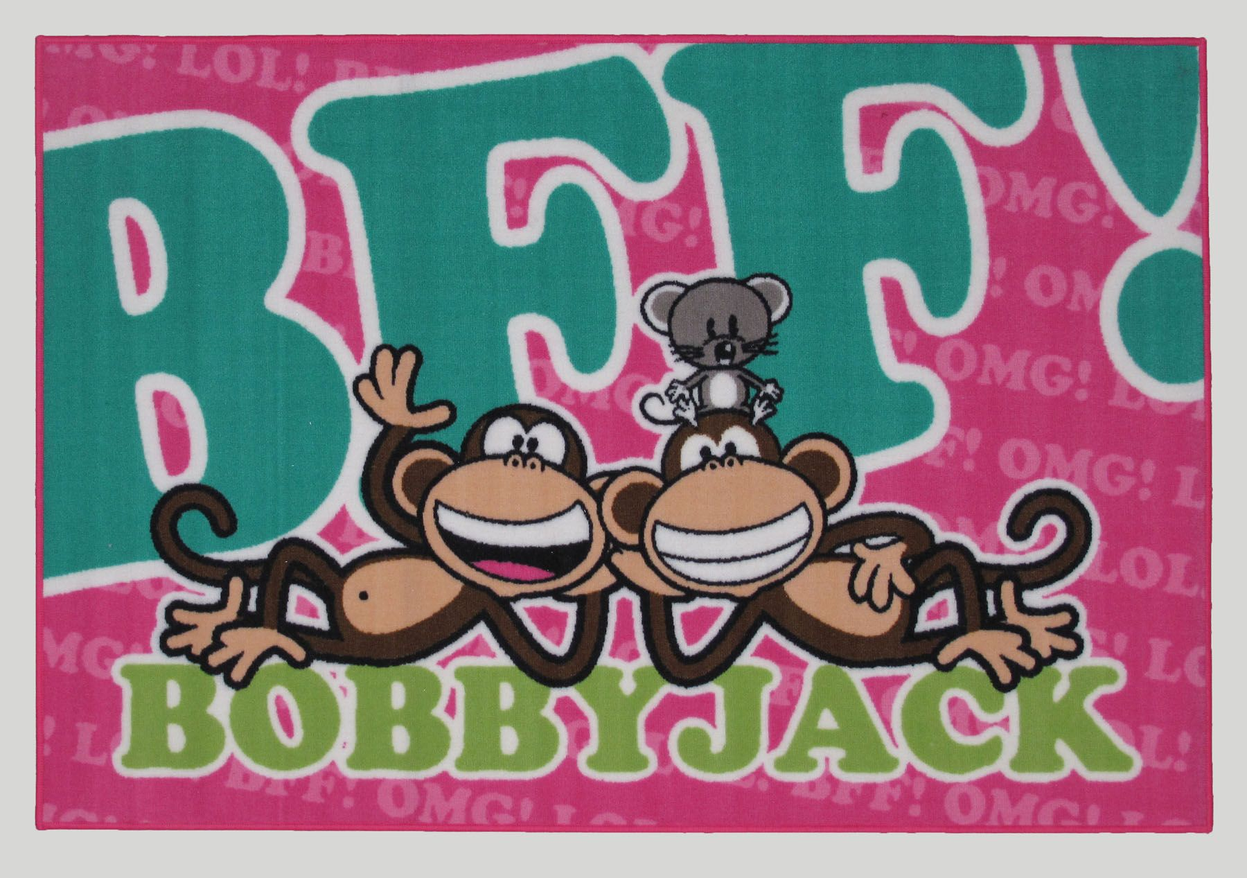 Image of LA Rugs Bobby Jack BFF-TEXT 19 x 29IN Area Rug