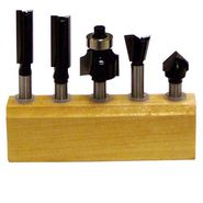 Craftsman 5 pc. Router Bit Set on Wood Block at Sears.com
