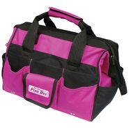 "The Original Pink Box 16"" Pink Tool Bag w/ 24 Inside and Outside Pockets at Craftsman.com"