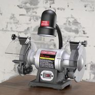 "Craftsman 1/6 hp 6"" Bench Grinder with Lamp (21124) at Craftsman.com"