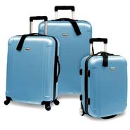 Traveler's Choice® FREEDOM 3-Piece Lightweight Hard-Shell Spinner Luggage Set in Arctic Blue at Kmart.com