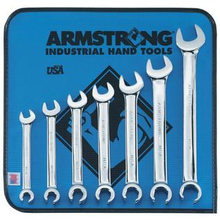 Armstrong 7 pc. 6 point Full Polish Combination Flare Nut Wrench Set Inch