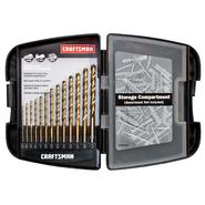 Craftsman 13 pc. Titanium Coated Drill Bit Set at Craftsman.com