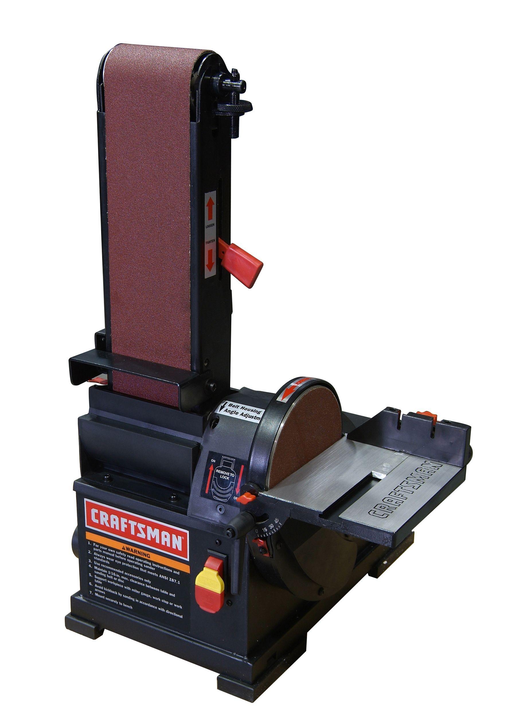 "Craftsman - 21514 - 1/3 hp Bench Top 4"" x 36"" Belt/6"" Disc ..."